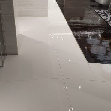 Cleaning and sealing grout lines in Chadstone shopping centre