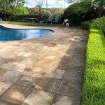 Sandstone Tile Cleaning Pool Side